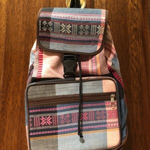 Small Plaid Backpack